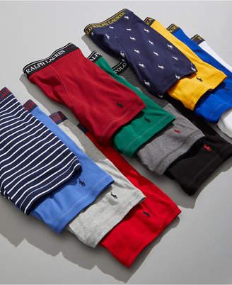 Polo Ralph Lauren Men Classic-Fit Knit Cotton Boxer Briefs, 3+1 Bonus Pack