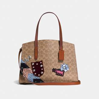 Coach X Keith Haring Charlie Carryall In Signature Patchwork