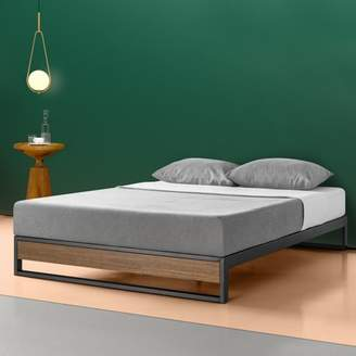 """Zinus Suzanne 10"""" Metal and Wood Platform Bed with Wood Slat Support, Multiple Sizes"""