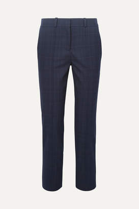 Maje Checked Twill Tapered Pants - Navy
