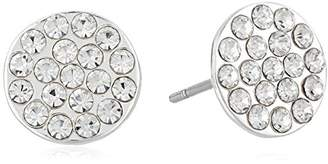 Chaps Women's Pave Disc Stud Earrings