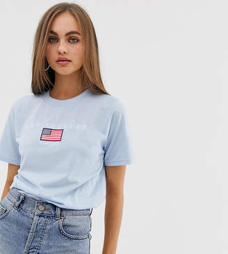 Daisy Street relaxed t-shirt with los angeles embroidery