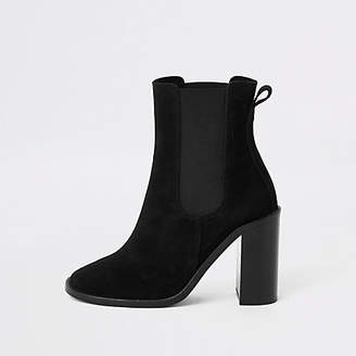 River Island Black suede ankle boots