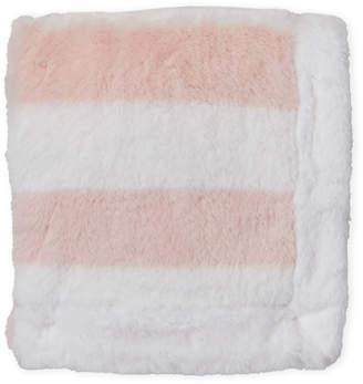 Petit Lem Newborn/Infant Girls) Pink Stripe Plush Blanket