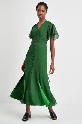 Whistles Womens Green Check Dress - Green