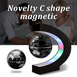 Generic C Shape LED World Map Decoration Magnetic Light Levitation Floating Globes of the World for Kids