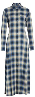 Polo Ralph Lauren Plaid Midi Shirtdress