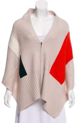 Duffy Wool Colorblock Poncho w/ Tags