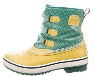 Sorel Coated Canvas Waterproof Ankle Boots