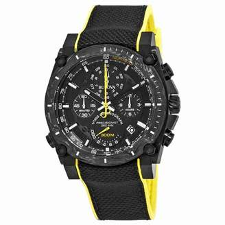 Bulova Precisionist Chronograph Black Dial Mens Watch 98B312