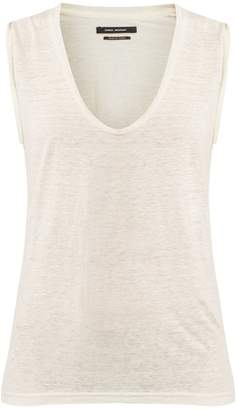 Isabel Marant Maik scoop-neck linen T-shirt
