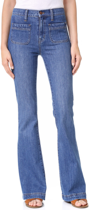 Madewell Flea Market Flare Jeans Sailor Edition $135 thestylecure.com