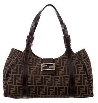 Fendi Leather-Trimmed Zucca Bag