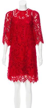 Dolce & Gabbana Lace Knee-Length Dress