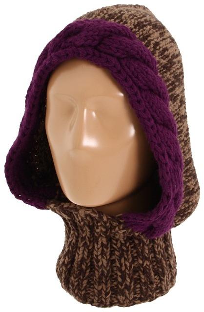 Echo Chunky Knit Helmet (Coffee Multi) - Hats