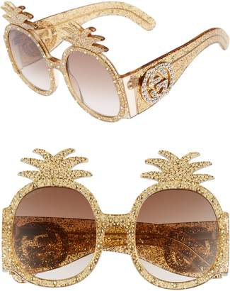 Gucci 53mm Pineapple Sunglasses