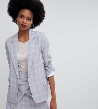 Oasis tailored blazer in grey check