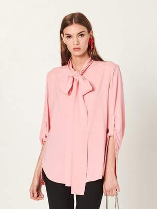 Oscar de la Renta Bloom Stretch-Silk Georgette Blouse