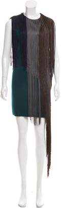 Lanvin Sleeveless Fringe Dress
