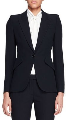Alexander McQueen Classic Suiting Jacket, Black $1,995 thestylecure.com