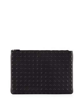 MCM Tantris Leather Large Pouch, Black