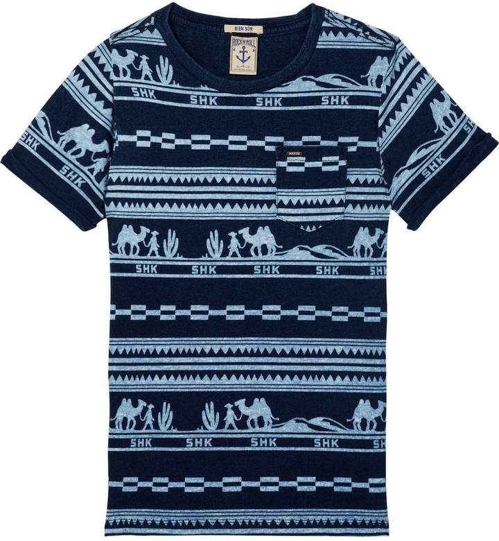 Printed Indigo T-Shirt