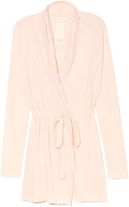 Skin Double Layer Wrap Robe - 34