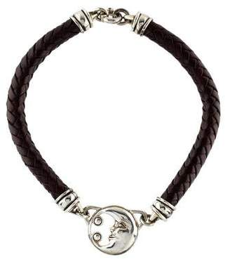 Kieselstein-Cord Leather Moon Necklace