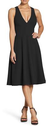 Dress the Population Catalina Tea Length Fit & Flare Dress