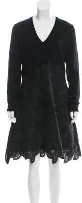 Antonio Berardi Long Sleeve Knee-Length Dress w/ Tags