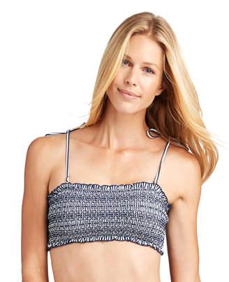 Vineyard Vines Sankaty Stripe Smocked Bikini Top