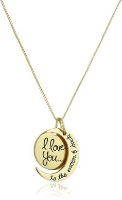 """DAY Birger et Mikkelsen Amazon Collection Sterling """"I Love You To The Moon and Back"""" Pendant Necklace, 18"""""""