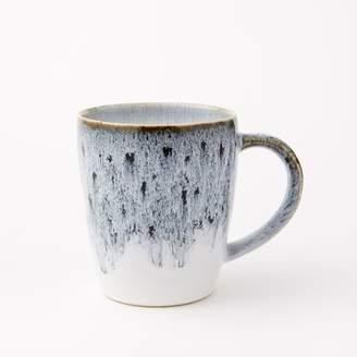 west elm Reactive Glaze Mugs (Set of 4) - Black/White