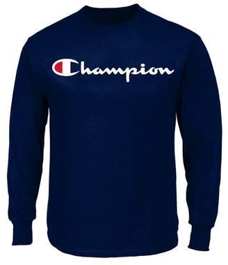 Champion Long Sleeve Script Logo Shirt (Big & Tall)