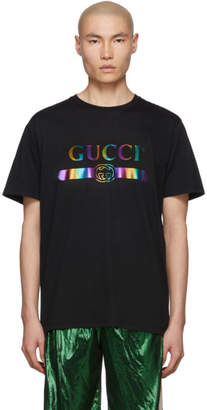 Gucci Black Rainbow T-Shirt