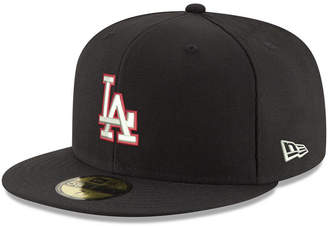 new arrival 8902a d1af4 New Era Los Angeles Dodgers Black Red Out 59FIFTY Fitted Cap