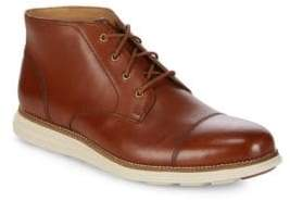 Cole Haan Leather Cap-Toe Chukka Boots
