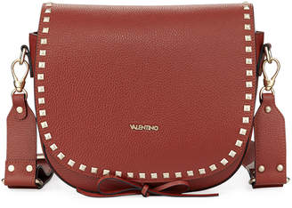 Mario Valentino Valentino By Maelle Pebbled Leather Crossbody Bag
