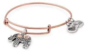 Alex and Ani Elephant Two-Tone Charm Bangle Bracelet