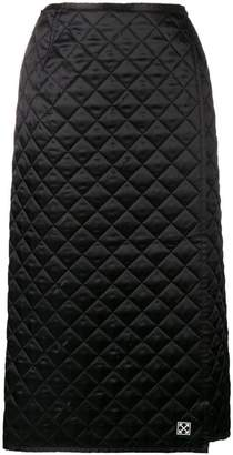 Off-White quilted midi skirt