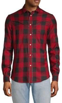Valentino Checkered Button-Down Shirt