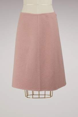 Prada Reversible Camel Hair Skirt