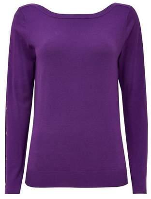 Wallis Violet Stud Sleeve Detail Top