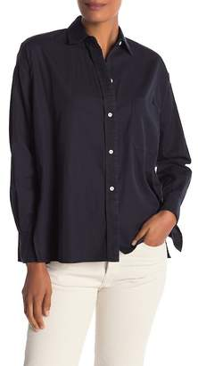 Vince Single Pocket Long Sleeve Blouse