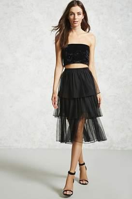 Forever 21 Tulle Midi Skirt