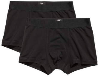 H&M 2-pack Pima Cotton Trunks - Black