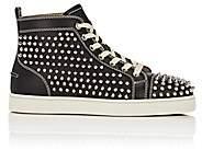 Christian Louboutin Men's Louis Flat Leather Sneakers - Black