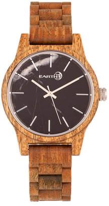 Earth Wood Tuckahoe Marble-Dial Wood Bracelet Watch Olive 40Mm