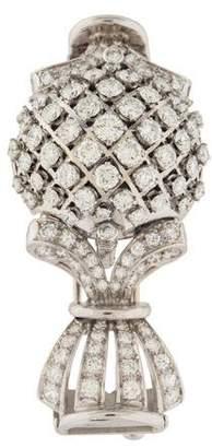 Platinum Diamond Brooch