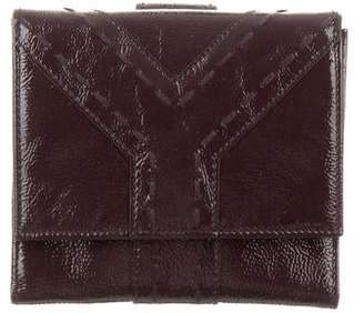 Saint Laurent Patent Leather Compact Wallet